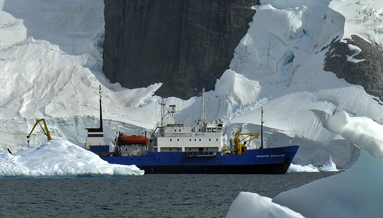 Our ship, a Russian built research vessel converted to accommodate 48 passengers, antarctica